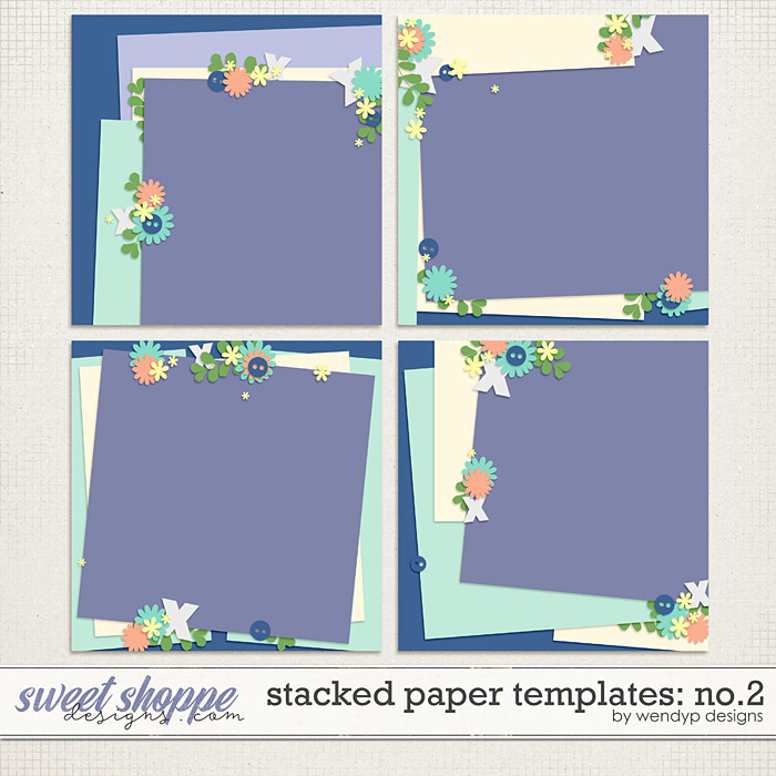 Stacked papers Templates: No.2 by WendyP Designs