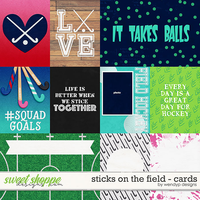Sticks on the field - cards by WendyP Designs