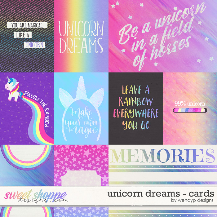 Unicorn Dreams - cards by WendyP Designs