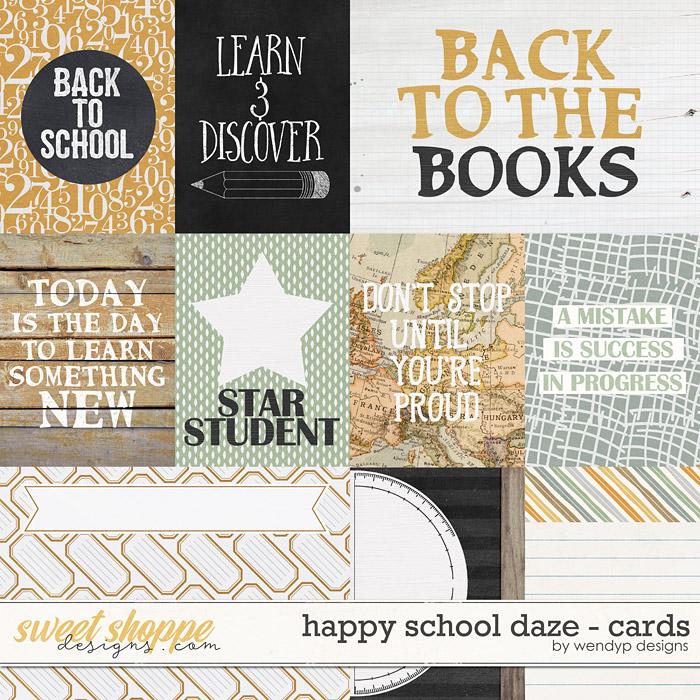 Happy school daze - cards by WendyP Designs