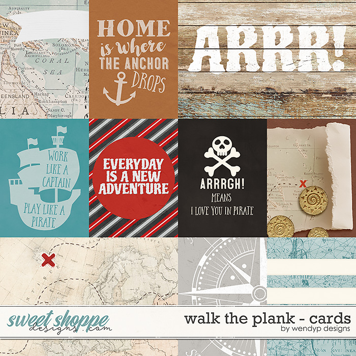 Walk the plank - cards by WendyP Designs