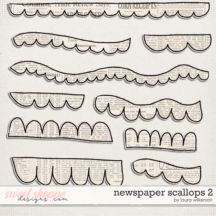 Newspaper Scallops 2