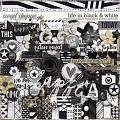 Life In Black & White by Libby Pritchett & Digital Scrapbook Ingredients