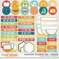 Summer Bucket List | Labels and Word Art by Digital Scrapbook Ingredients