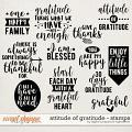 Attitude Of Gratitude Stamps by Digital Scrapbook Ingredients