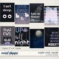Night Owl: Cards by lliella designs