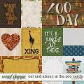 Out and About: At the Zoo Cards by Grace Lee