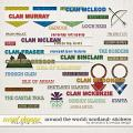 Around the world: Scotland - Stickers by Amanda Yi and WendyP Designs