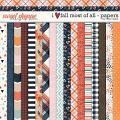 I Love Fall Most of All Paper Pack by Traci Reed
