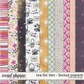 Tea For Two - Bonus Papers by Red Ivy Design