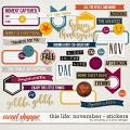 This Life: November - Stickers by Amanda Yi & Juno Designs