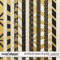 All black, white and gold Papers by WendyP Designs