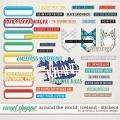 Around the world: Iceland - stickers by Amanda Yi & WendyP Designs