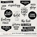 Grow Through Life - Pregnancy | Stamps by Digital Scrapbook Ingredients