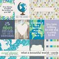What a beautiful world - Cards by WendyP Designs