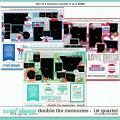 Cindy's Layered Templates - Double the Memories 1st Quarter Bundle by Cindy Schneider