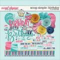 Scrap Simple: Birthday Elements by Janet Phillips