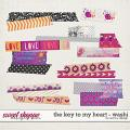 The Key To My Heart - Washi by Red Ivy Design