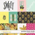 Golden Fruit Cards by Dream Big Designs