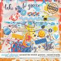 Around the world: Greece - Mixed Media by Amanda Yi & WendyP Designs