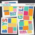 DUO 4 - Boys & Girls Templates by Erica Zane