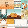 A Crisp Autumn   Cards by Digital Scrapbook Ingredients