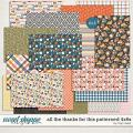 All The Thanks For This Patterned 4x6 Cards by Traci Reed