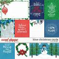 Blue Christmas Cards by LJS Designs