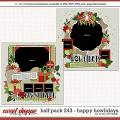 Cindy's Layered Templates - Half Pack 243: Happy Howlidays by Cindy Schneider