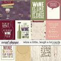 Wine A Little, Laugh A Lot Cards by LJS Designs