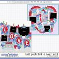 Cindy's Layered Templates - Half Pack 248: I Heart U 12 by Cindy Schneider