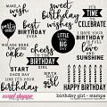 Birthday Girl | Stamps by Digital Scrapbook Ingredients