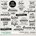 A Baby Story | Stamps by Digital Scrapbook Ingredients