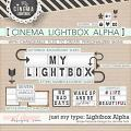 Just My Type Cinema Light box Alpha: Simple Pleasure Designs by Jennifer Fehr