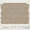 Adventure: In the Woods Wordys by Ponytails