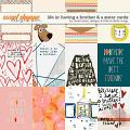 Life Is: Having A Brother & A Sister Cards by Studio Basic and Little Butterfly Wings