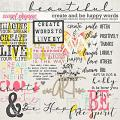 Create & Be Happy Words by Simple Pleasure Designs and Studio Basic