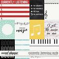 Currently: listening - Cards by Kristin Cronin-Barrow and WendyP Designs