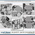 Cindy's Layered Templates - Six Pack 8: Just for Journaling 22 by Cindy Schneider