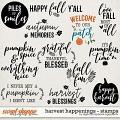 Harvest Happenings | Stamps by Digital Scrapbook Ingredients