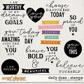 Daily Dose Stamps by Digital Scrapbook Ingredients