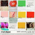 2020 Calendar 3x4 Cards by Studio Basic