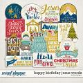 Happy Birthday Jesus Words by LJS Designs