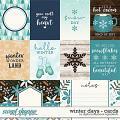 Winter Days | Cards by Digital Scrapbook Ingredients