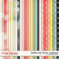 Hello My Love: Papers by River Rose Designs