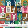 Llama Llove Cards by Clever Monkey Graphics