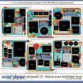 Cindy's Layered Templates - Six Pack 13: This is Your Birthday - Boy by Cindy Schneider