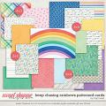 Keep Chasing Rainbows Patterned Cards by Traci Reed