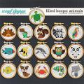 Filled Hoops - Animals1 by Clever Monkey Graphics