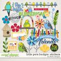 Little Pets Budgie Stickers by lliella designs